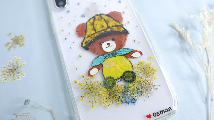 Pressed Flower Cartoon Phone Case Workshop